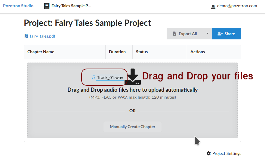 Drag/Drop new files