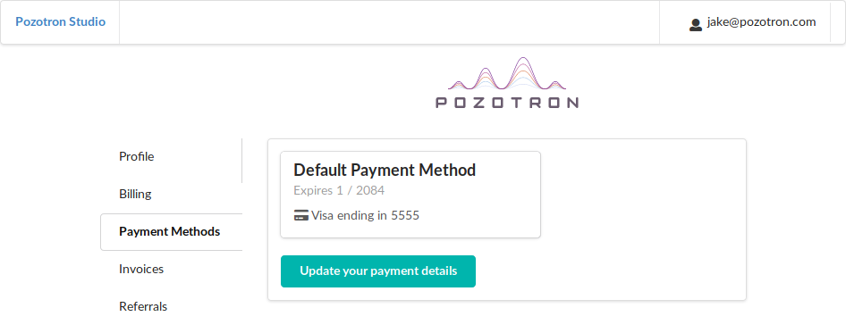 Go to your default payment method
